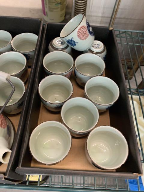 (3) Ensembles de service à thés - porcelaine -et (10) tasses - Image 2 of 3