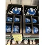 (3) Ensembles de service à thés - porcelaine - Poisson