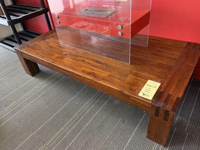 """Table à café bois - 63 x 32"""""""
