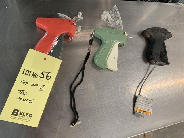 Lot de (3) tagging fusils