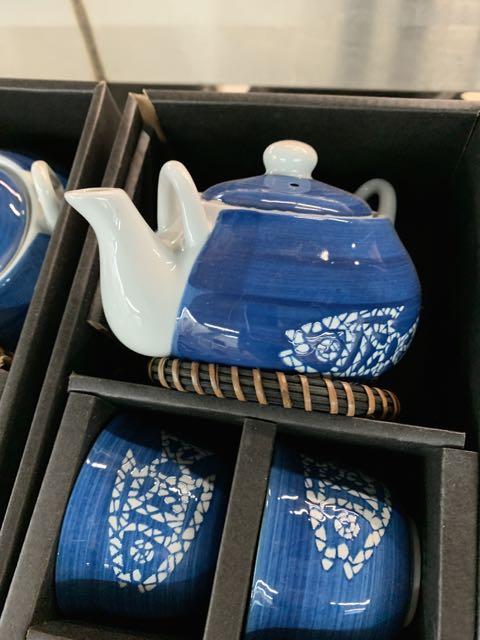 (3) Ensembles de service à thés - porcelaine - Poisson - Image 3 of 3