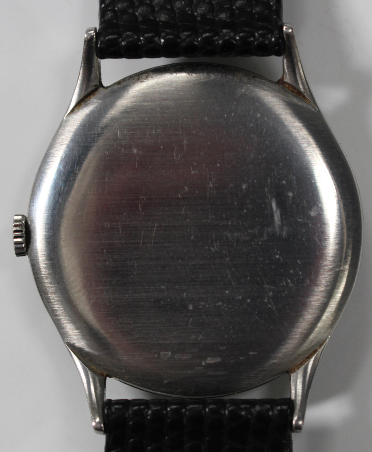 Lot 1044 - An Omega steel cased gentleman's wristwatch, circa 1943, the signed jewelled movement numbered '