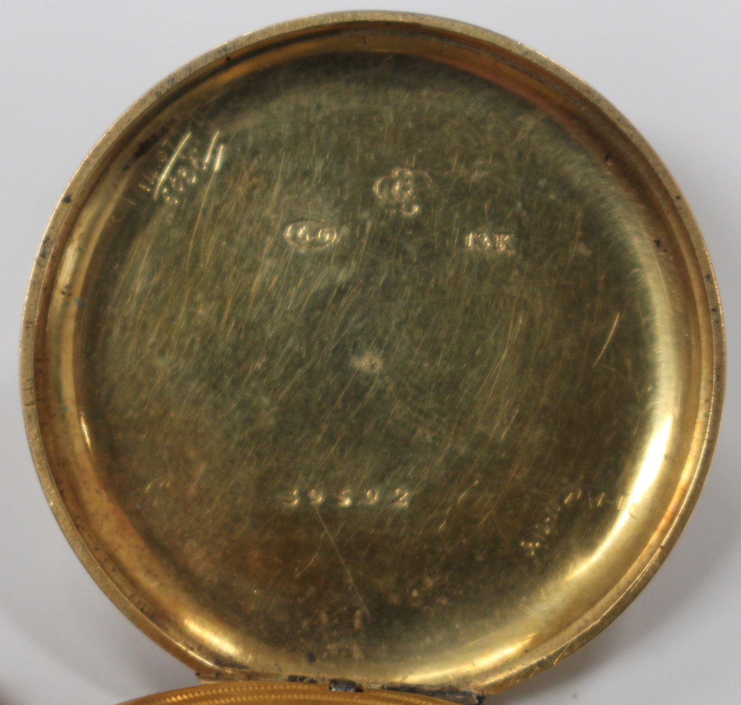 Lot 1008 - A gold cased keywind open-faced lady's fob watch, the gilt cylinder movement detailed 'Muret