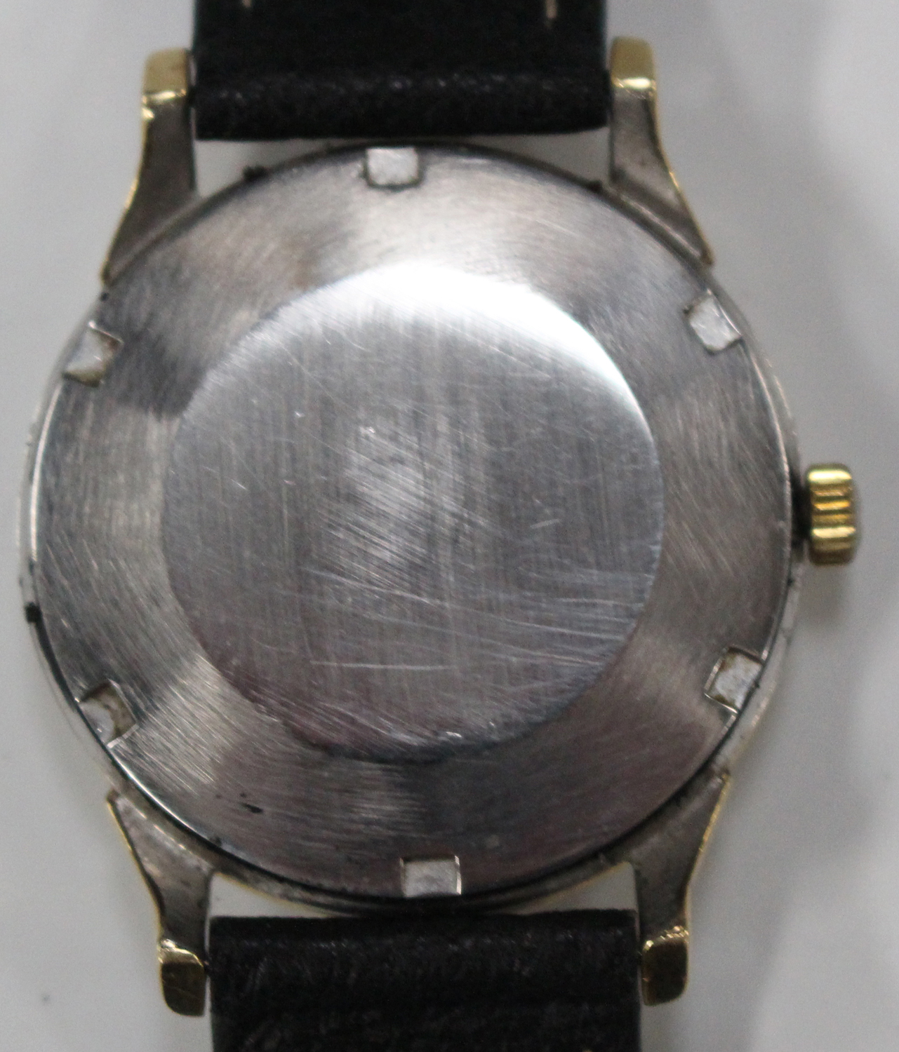 Lot 1053 - An Omega Constellation Automatic gilt metal fronted and steel backed gentleman's wristwatch, the