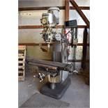Bridgeport 2 HP Variable Speed Vertical Milling Machine, S/N 12/BR204263, Acu-Rite Model D200 2-Axis
