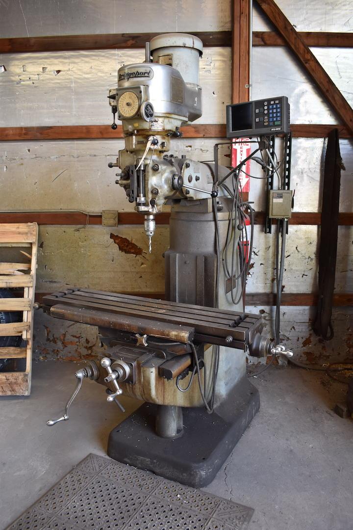 Lot 83 - Bridgeport 2 HP Variable Speed Vertical Milling Machine, S/N 12/BR204263, Acu-Rite Model D200 2-Axis