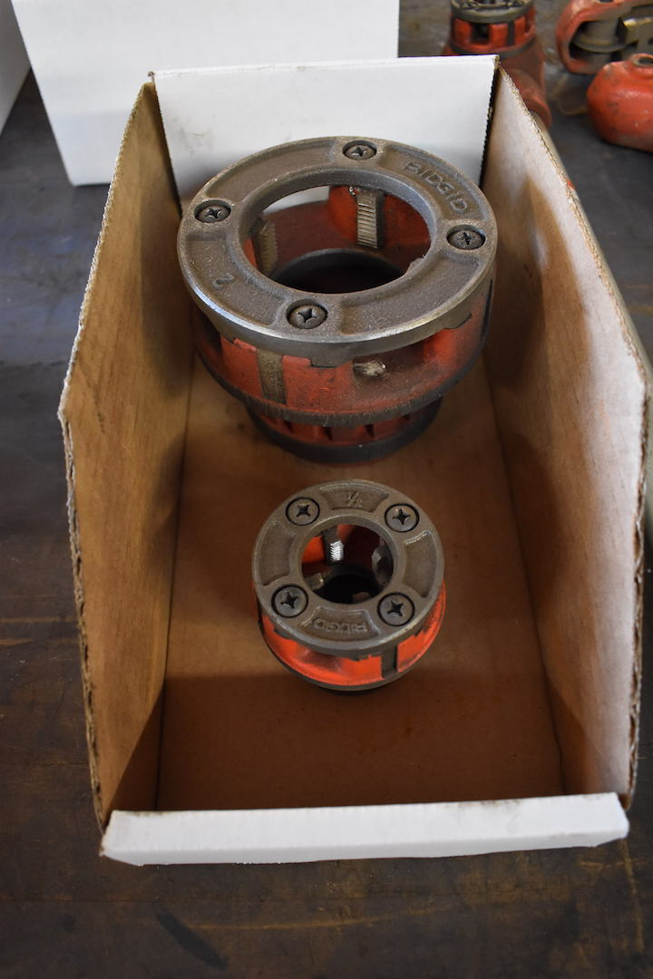 Lot 26 - LOT: Ridgid No. 44-S 2.5 in. - 4 in. Pipe Cutter, 3/8 in. Pipe Threader, 2 in. Threading Die, 1/2