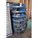 LOT: Rotary Parts Bin with Contents