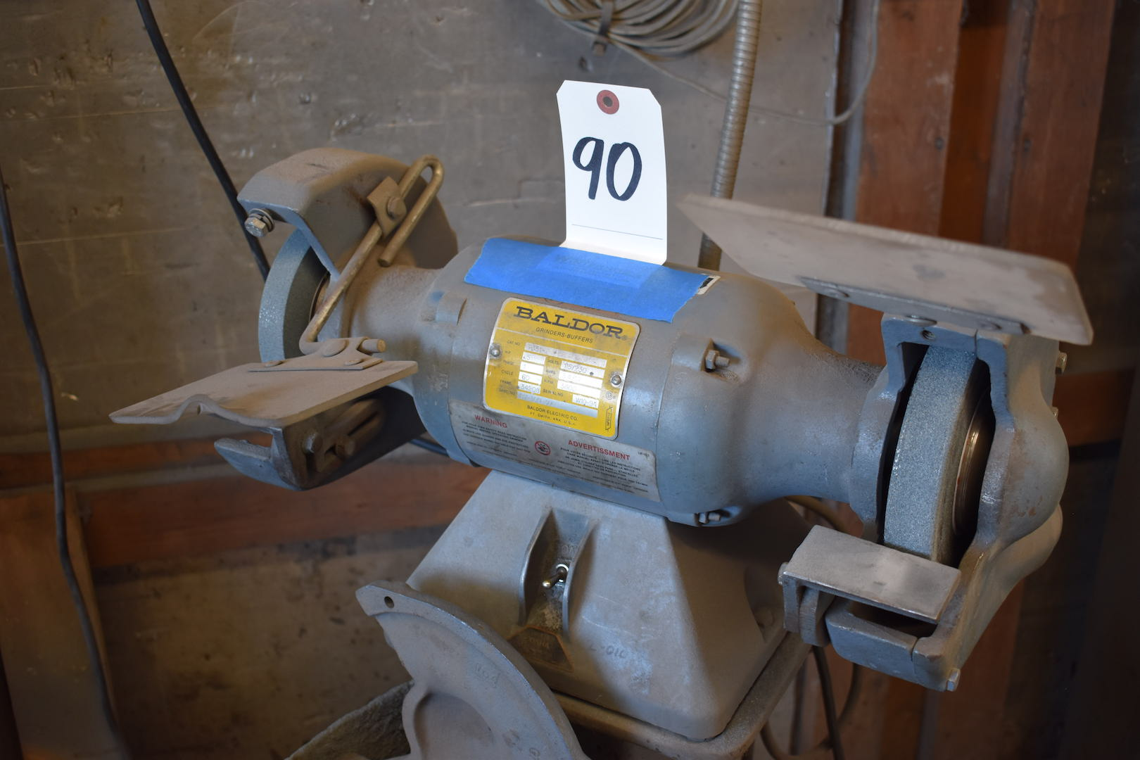 Lot 90 - Baldor 6 in. Double End Grinder, 1/2 HP, 115/230 Volts, 3600 RPM