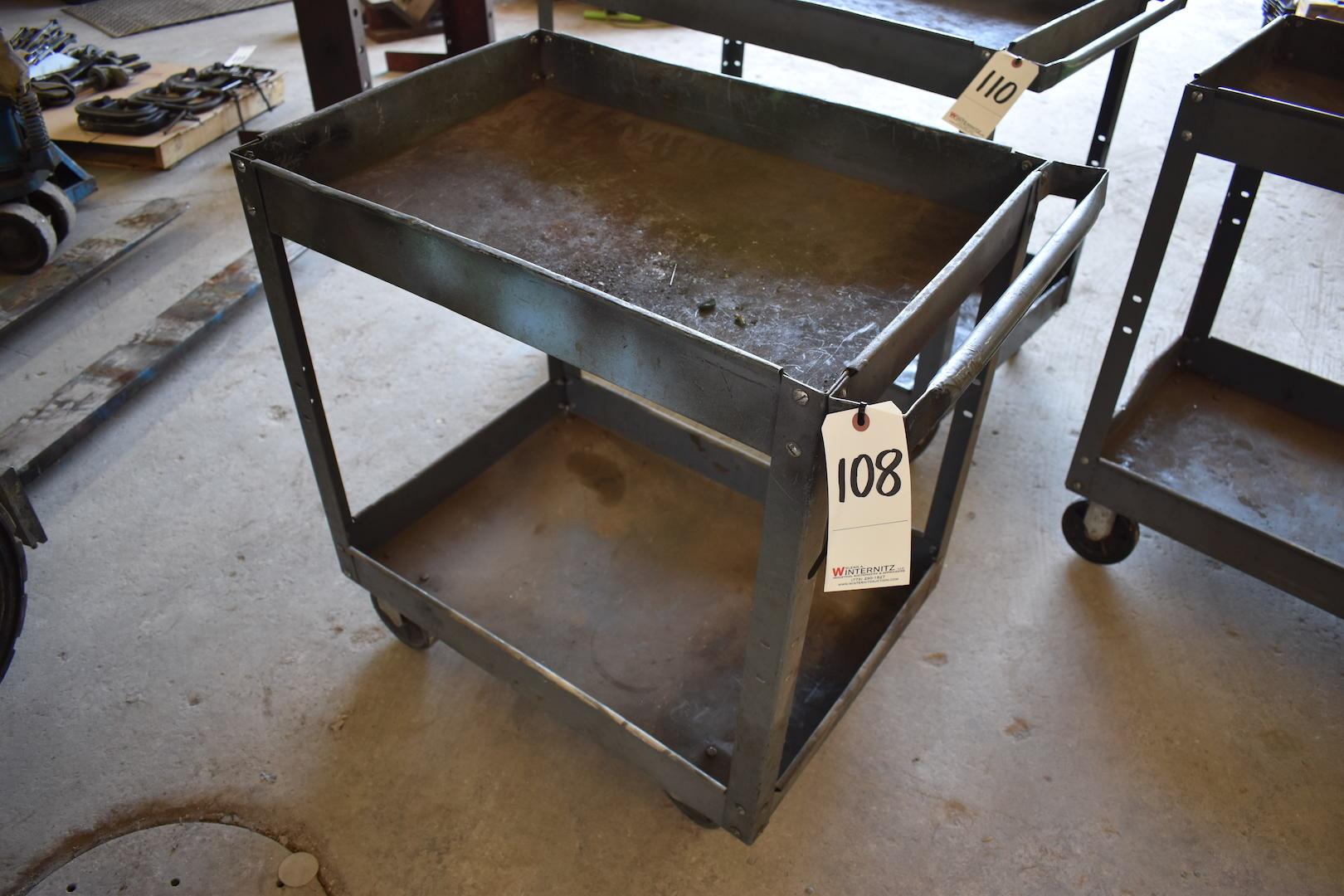 Lot 108 - Steel Shop Cart