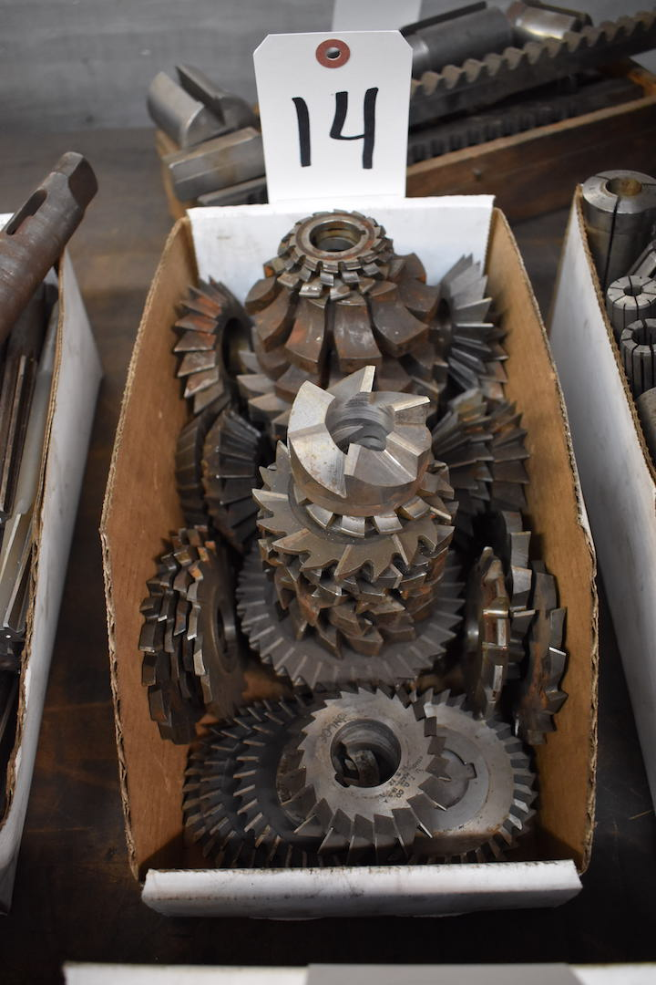 Lot 14 - LOT: Assorted Milling Cutters