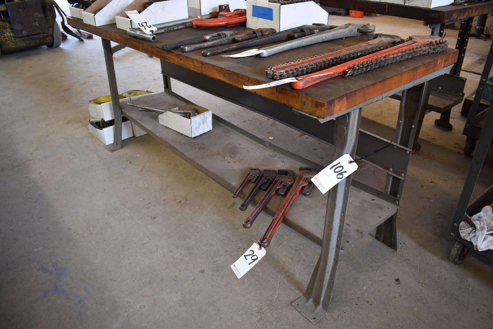 Lot 106 - 72 in. x 30 in. Maple Top Work Bench