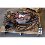 LOT: Cutting Torches, Gages, Welding Hose, Goggles, etc. on (1) Pallet