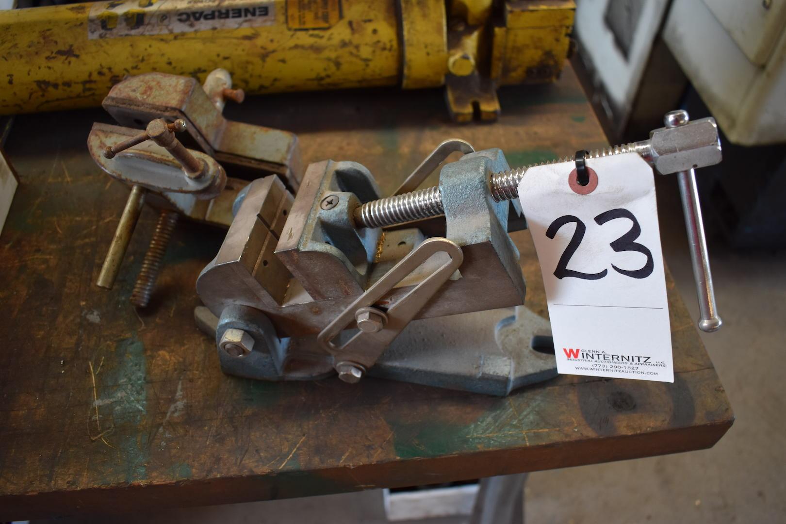 Lot 23 - LOT: Wilton Angle Vise & Stanley No. 700 Vise