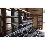 LOT: Meco Single-Side Adjustable Cantilever Rack, 11 ft. 4 in. Long x 8 ft. High, 24 in. Arms,