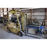 Clark 5000 lb. Model C50 LP Forklift Truck, S/N C50B-1197-986 169, 3-Stage Mast, Solid Tires, 153