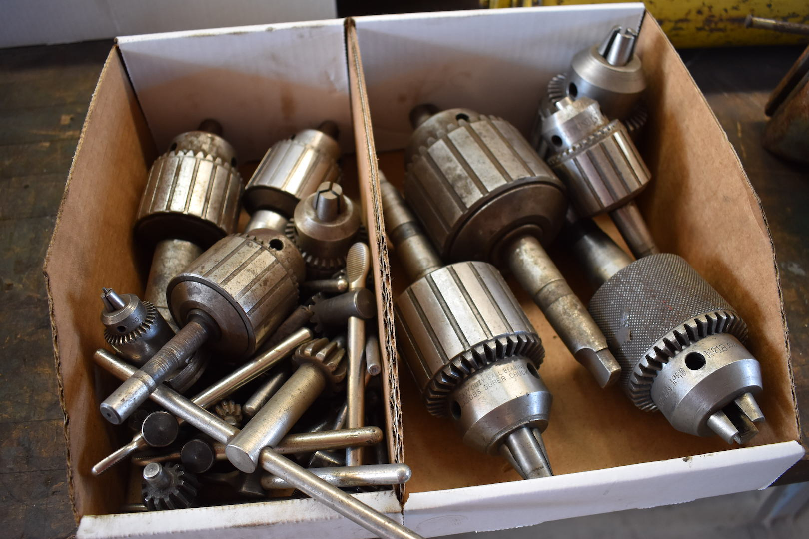 Lot 23A - LOT: Assorted Drill Chucks with Keys