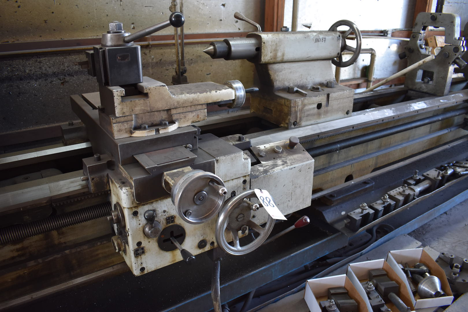 Lot 88 - Tos/Trens Trencin 28 in. x 165 in. (approx.) Model SN71C Gap Bed Engine Lathe, S/N 07 71 40 98