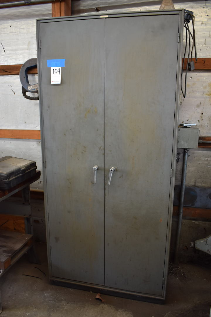 Lot 104 - 2-Door Steel Storage Cabinet