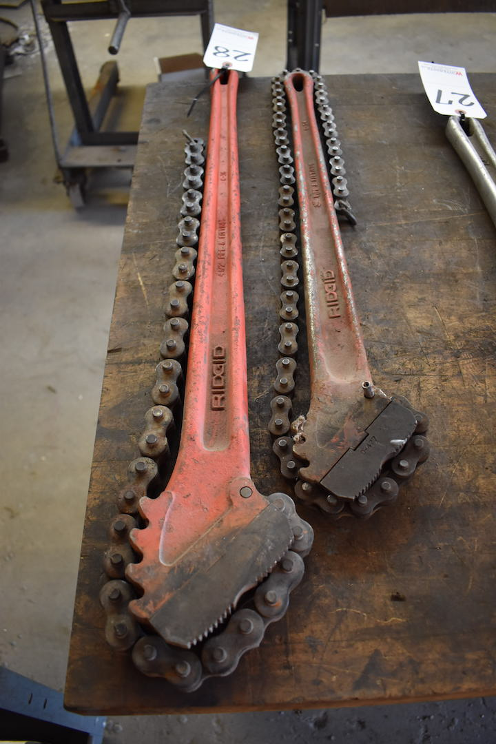 Lot 28 - LOT: Ridgid 4.5 in. Pipe & Fittings Wrench & Ridgid 3 in. Pipe & Fittings Wrench