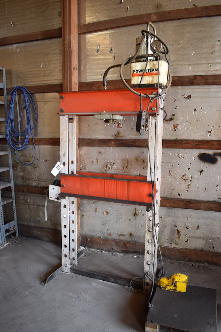 Lot 75 - Power Team 25 Ton Adjustable H-Frame Hydraulic Press