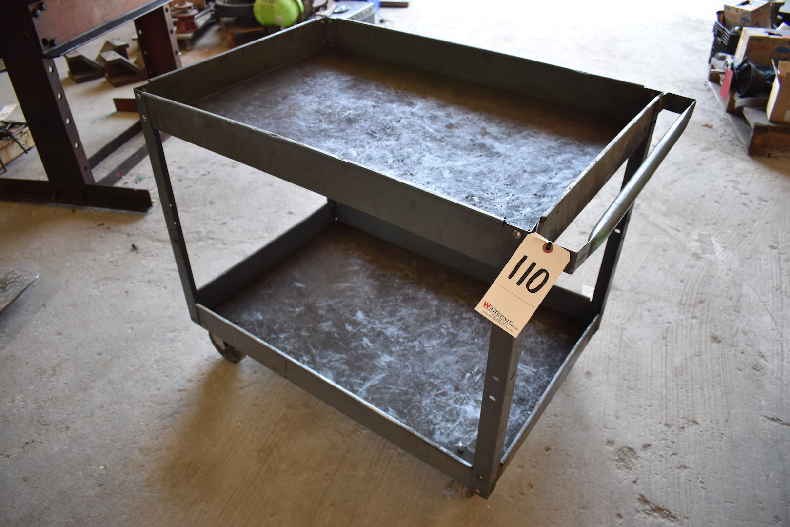 Lot 110 - Steel Shop Cart