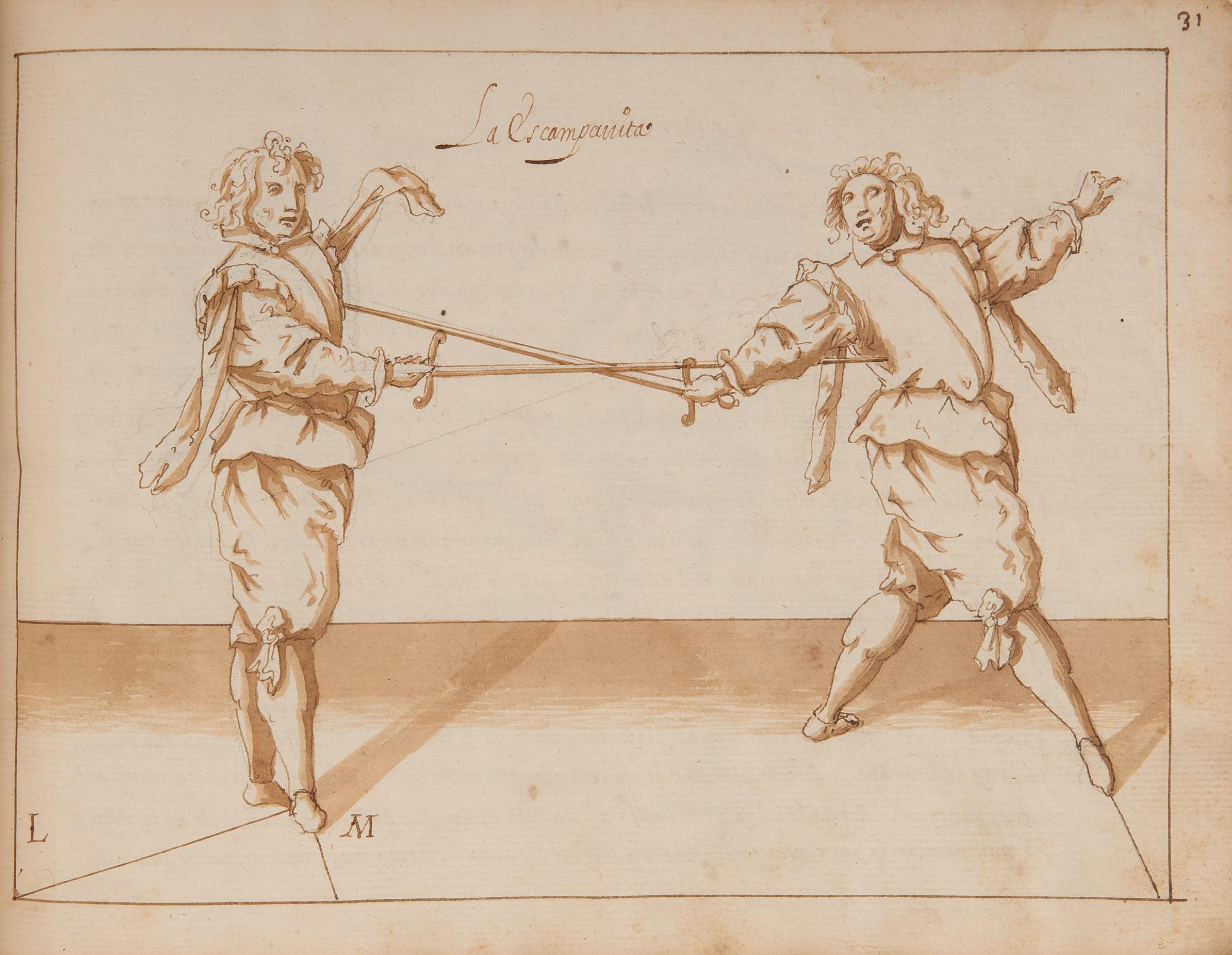Lot 2617 - FERRARA, Ottavio (secolo XVII). Compendio y Philosophia y Destreza de las armas reducido a su