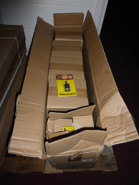 Lot 65 - 400 Pieces (2 Boxes) Bright Idea Diamond Hole Saws