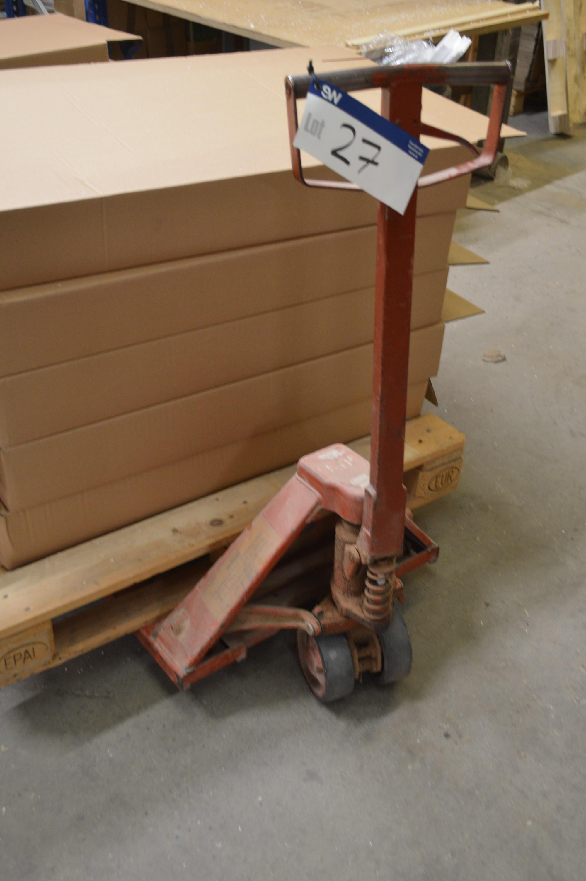 Lot 27 - Hand Hydraulic Pallet Truck(please note-lots situ