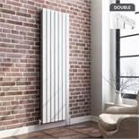 NEW& BOXED 1800x532mm Gloss White Double Flat Panel Vertical Radiator. RRP £499.99.Designer T...