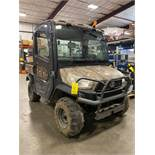 2014 KUBOTA X1100C RTV, ENCLOSED CAB, DIESEL, DUMP BED, 1,885.9 HOURS SHOWING, HEAT & A/C, RUNS AND