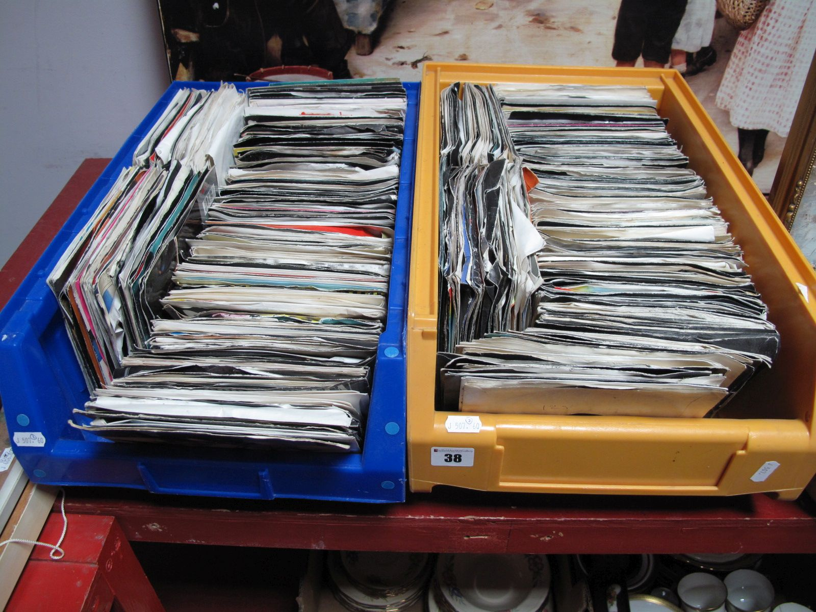 Lot 38 - A Quantity of Mostly 1980's Pop 45 RPM Singles, (over 300):- Two Boxes