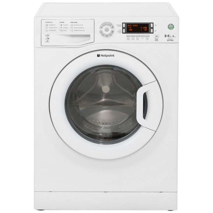 Lot 11 - 1 GRADE B UNBOXED / UNTESTED HOTPOINT ECO-TECH 8+6KG A CLASS WASHER, WDXD8640P **SLIGHT DENT TO