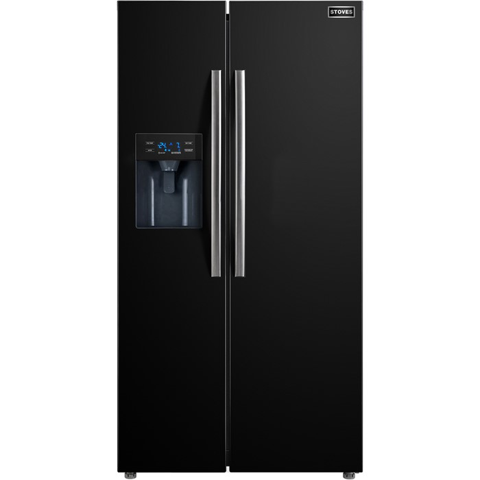 Lot 15 - 1 GRADE C STOVES AMERICAN STYLE FRIDGE FREEZER IN BLACK SX5905 / RRP £999.99 (VIEWING HIGHLY