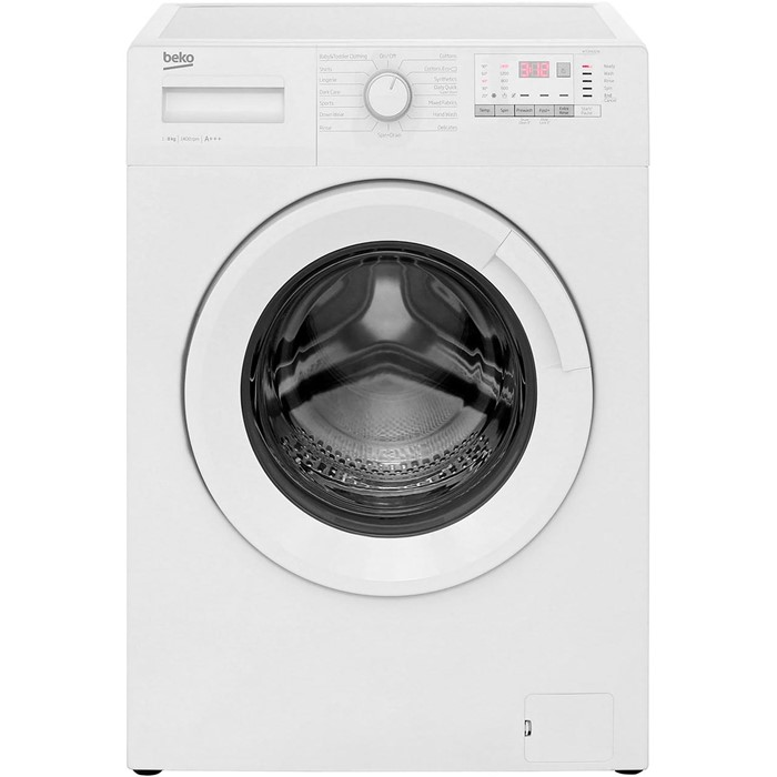 Lot 9 - 1 UNPACKAGED GRADE A UNTESTED WHITE BEKO WTG841B2W 8KG WASHING MACHINE WITH 1400RPM / RRP £249.99 (
