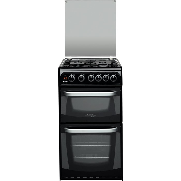 Lot 16 - 1 GRADE A HOTPOINT CANNON CH50GCIK.0 COOKER IN BLACK / RRP £469.99 (VIEWING HIGHLY RECOMMENDED)