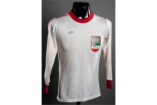 best website 06014 6a5cf Ali Reza Ghesghayan: a white Iran No.11 1978 World Cup bench ...