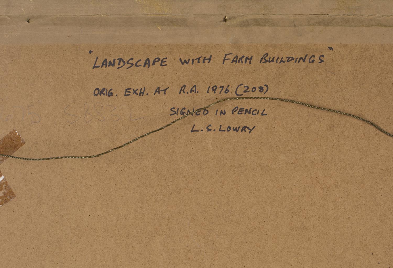 Lot 15 - L.S. Lowry - Landscape with Farm Buildings, colour print, published by Venture Prints circa 1974,