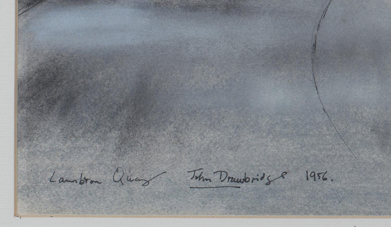Lot 12 - John Drawbridge - 'Lambton Quay' (Wellington, New Zealand), ink with watercolour and coloured