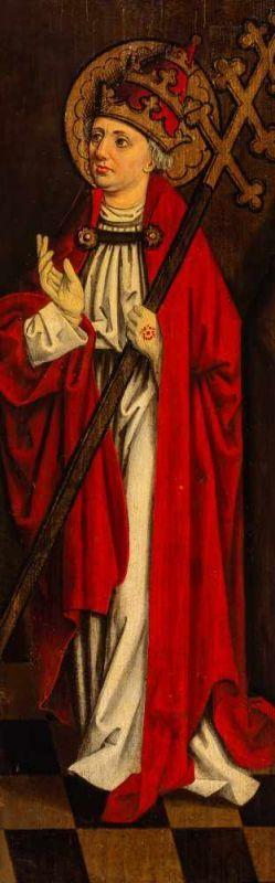 Lot 2 - German School (16th century)a) Saint Sebastian Oil on pinewood panel, 106.3 x 33.8 cmb) Saint