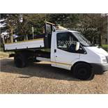(RESERVE MET) Ford Transit 350 2.4 TDCI Tipper - 2012 Model - 1 Keeper From New -alloy body -3500kg