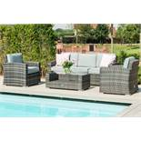 Rattan Kingston 3 Seat Outdoor Sofa Set (Grey) *BRAND NEW*