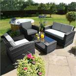 Rattan Kingston 2 Seat Sofa Outdoor Set (Grey) *BRAND NEW*
