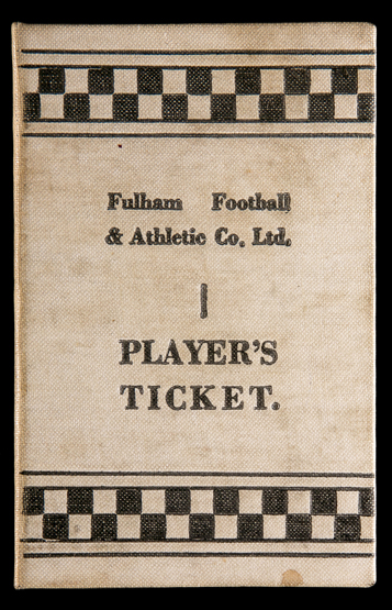 a fulham fc player 39 s ticket season 1934 35 named to sharman. Black Bedroom Furniture Sets. Home Design Ideas