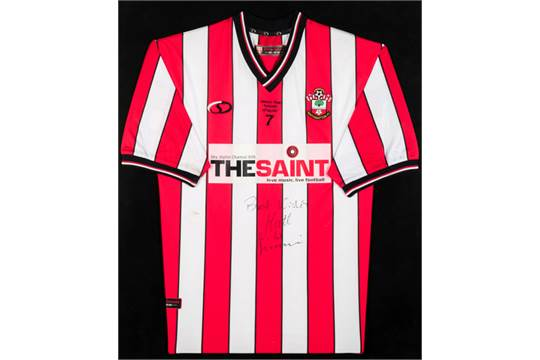 352661c37 Matt Le Tissier Back Signed Southampton Home Shirt Autograph Jersey Soccer  Sports Mem