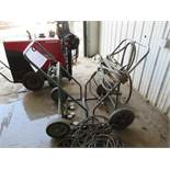 DUAL GAS CYLINDER HAND TRUCK WITH VICTOR TORCHES, VALVES & HOSES