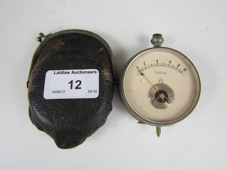 Lot 12 - A vintage pocket volt meter