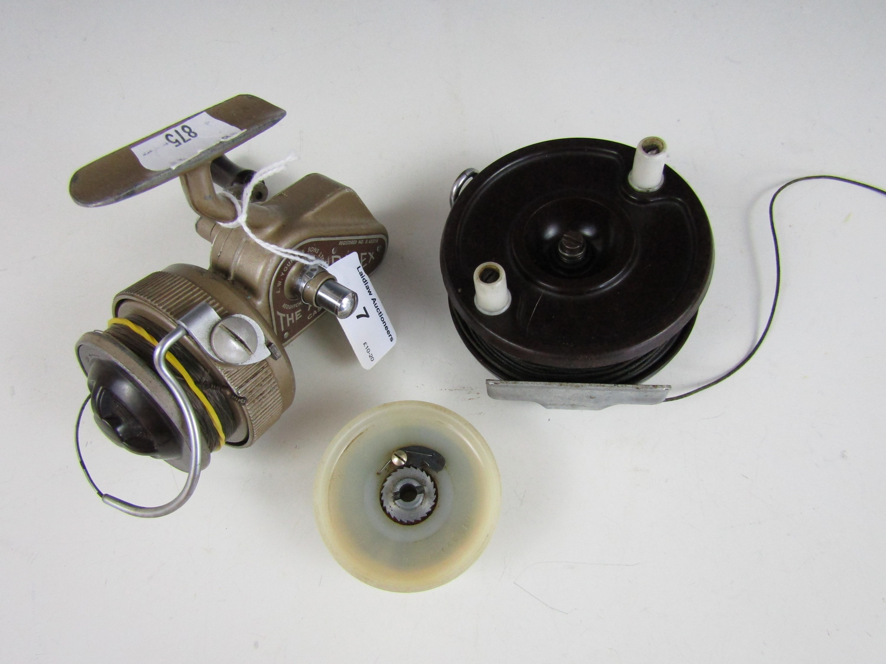 Lot 7 - A Young and Sons 'Ambidex' fishing reel together with a Paramount fly reel and a spare spool