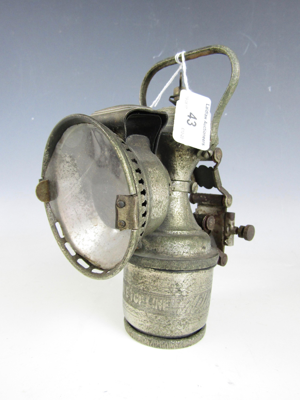 Lot 43 - An antique Miller's Monarch cycle carbide lamp