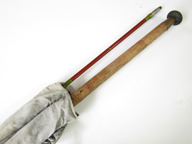 Lot 11 - A vintage Martin James 8'6 salmon spinning rod